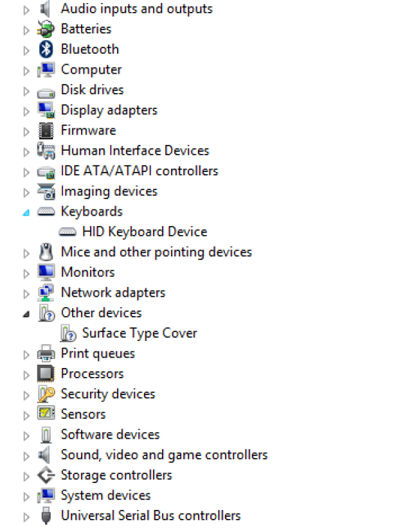 download surface pro cover driver manually