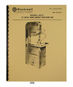 rockwell model 14 bandsaw manual