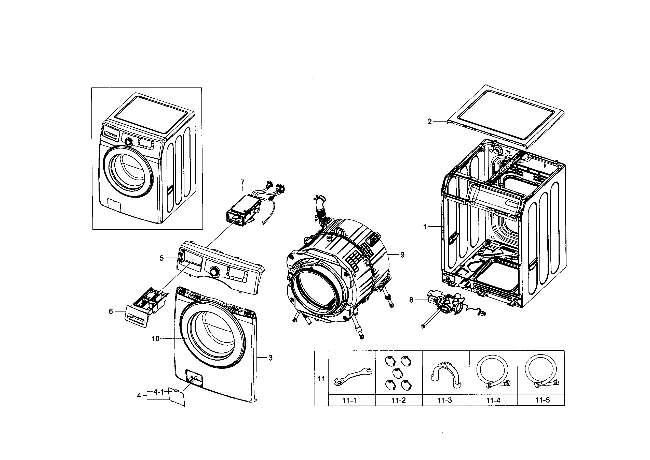 manual for a samsung front load washer model wf220anw xaa01