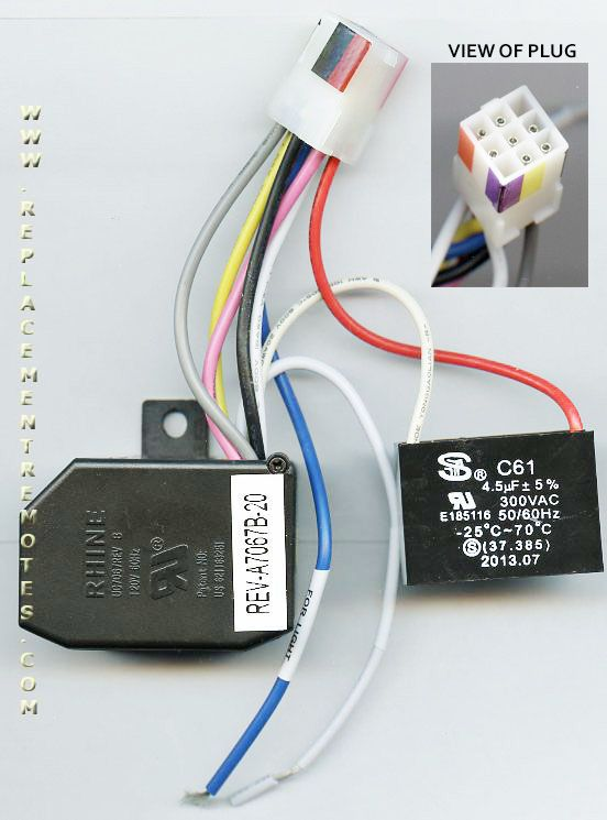 ceiling fan replacement remote model 99110 user manual