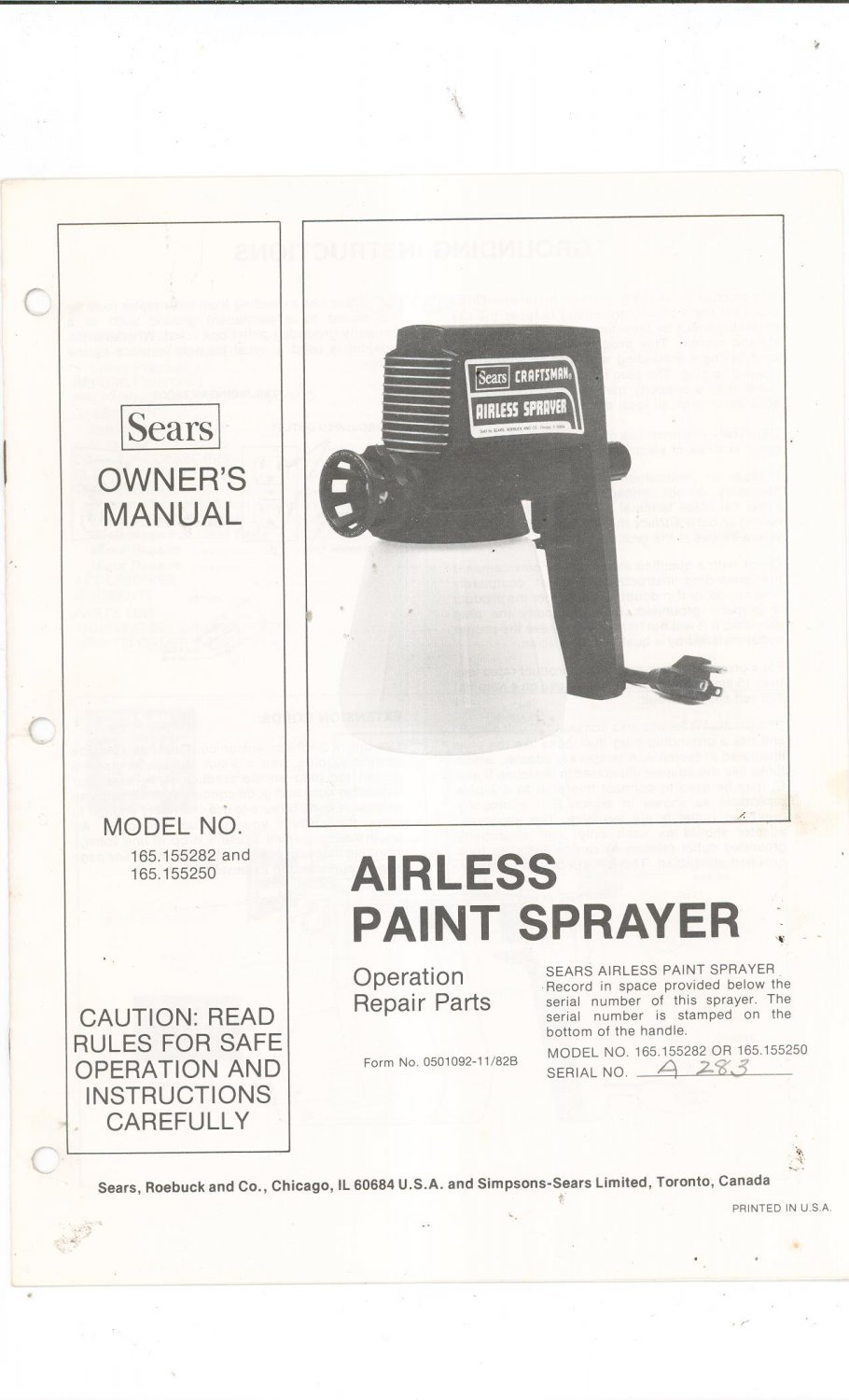 sears owners manual model no 758.624600