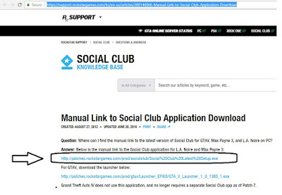 rockstar support manual link to social club application download
